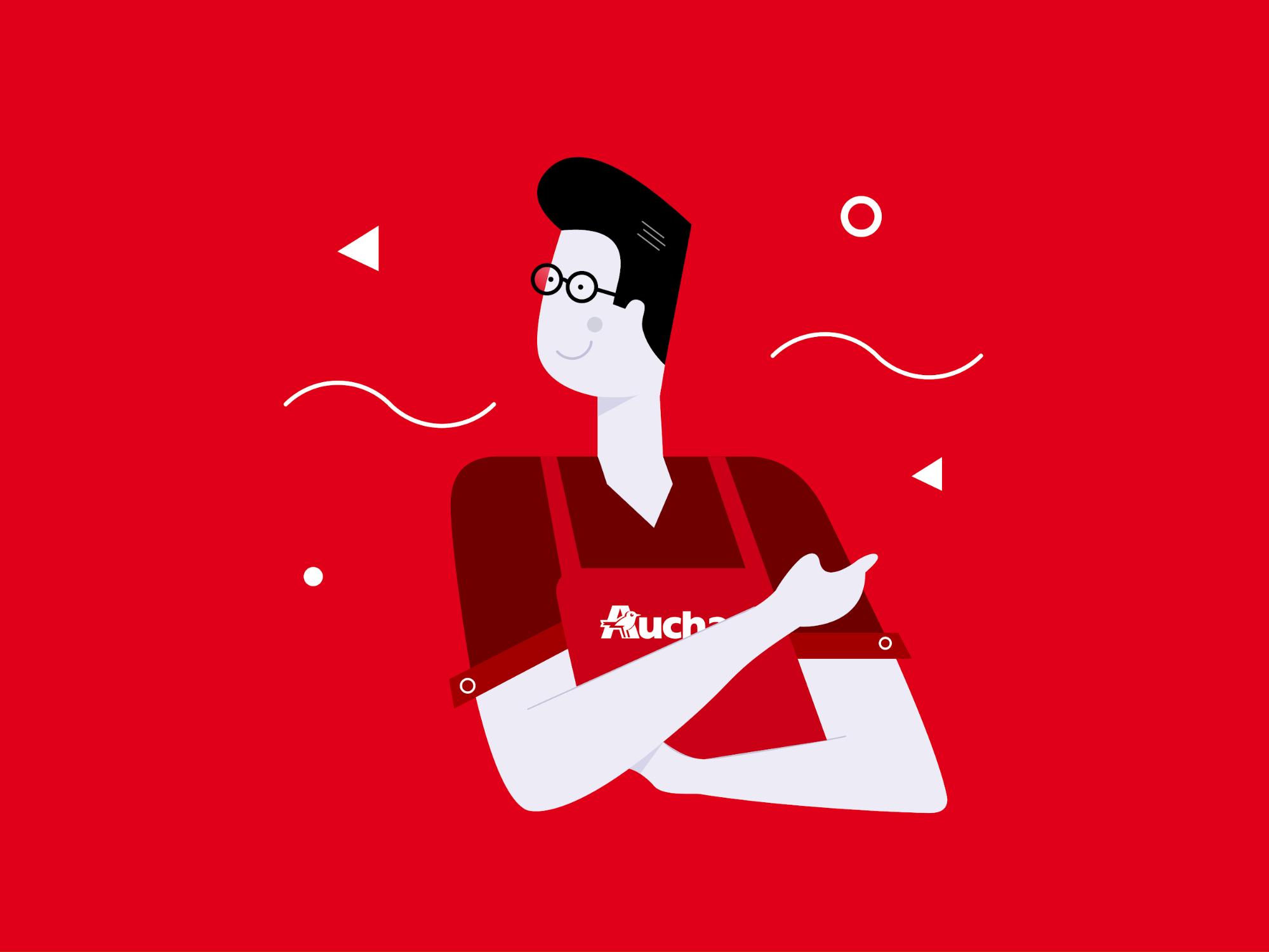 Koncept aplikacji Auchan - asystent