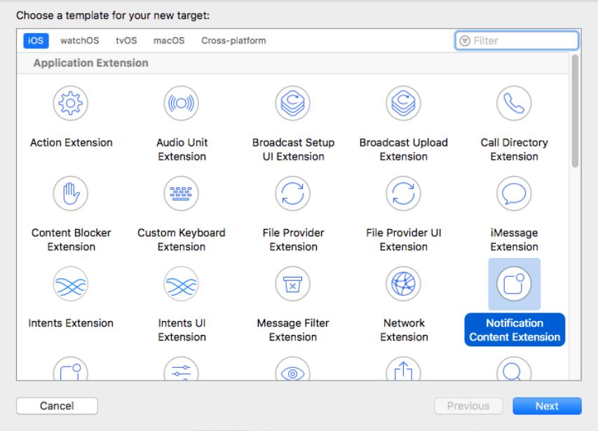 interface UserNotifications in iOS app