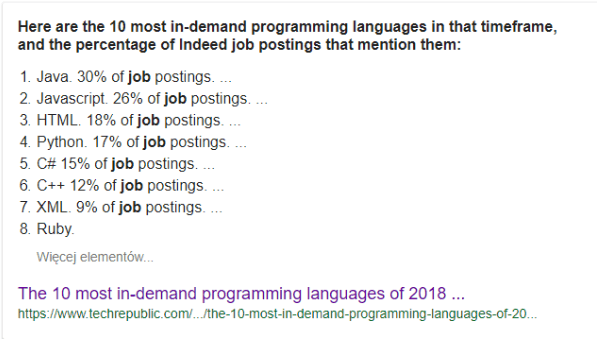 the 10 most in-demand programming languages
