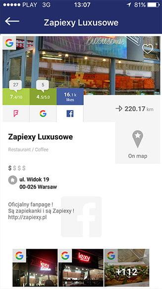 Yumer application portfolio screenshot