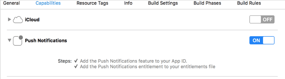 UserNotifications in iOS app push notfications