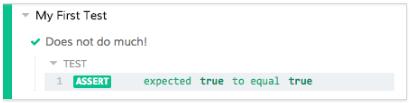 Test result screenshot