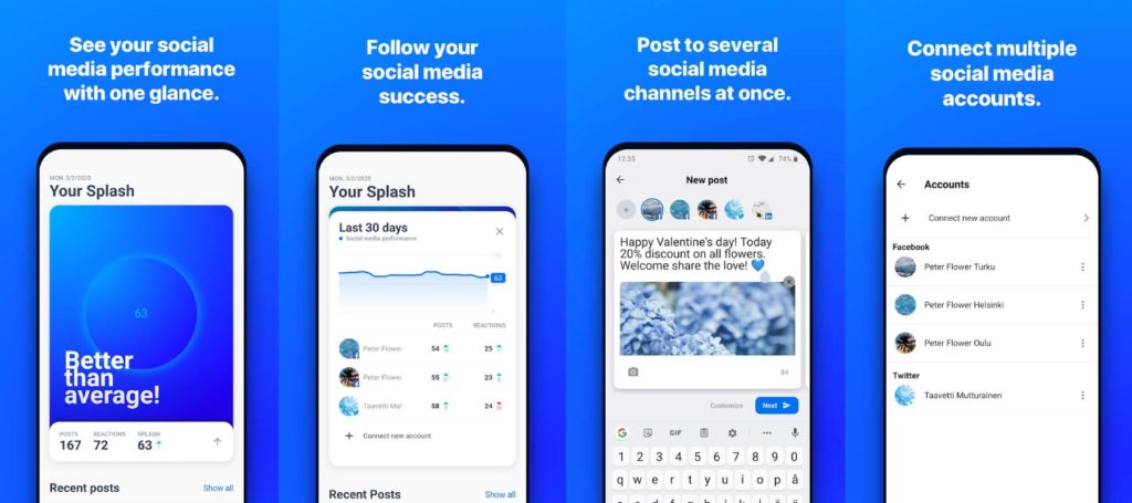 Hookle Social Media Managing App