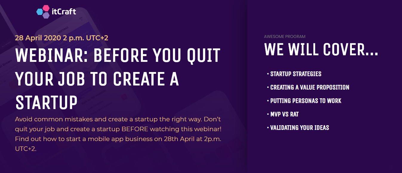 Webinar - your mobile startup