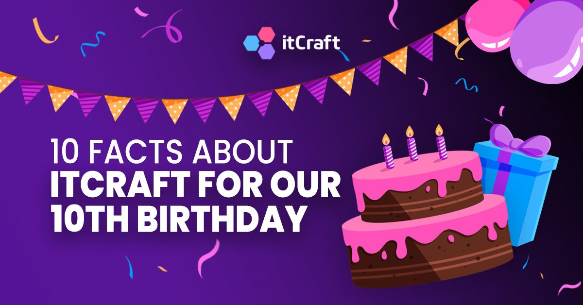 10 facts about itCraft for our 10th birthday