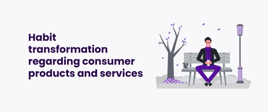 Habit transformation regarding consumer products and services