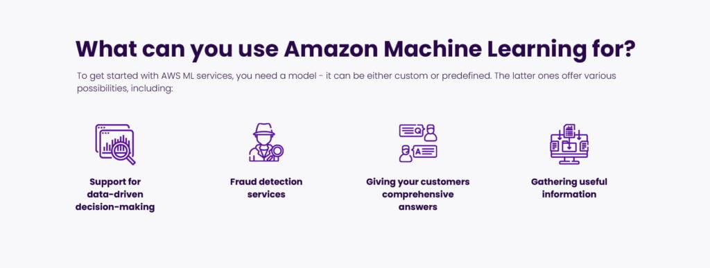 What can you use Amazon Machine Learning for?