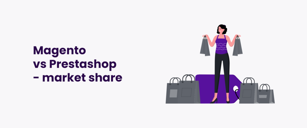 Magento vs Prestashop - market share